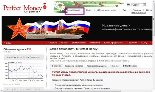 Веб сервис Perfect Money